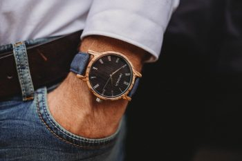sustainable wooden watch for men